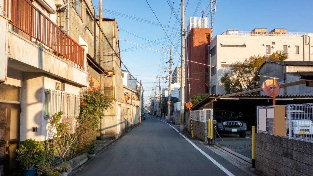 住宅街の生活道路