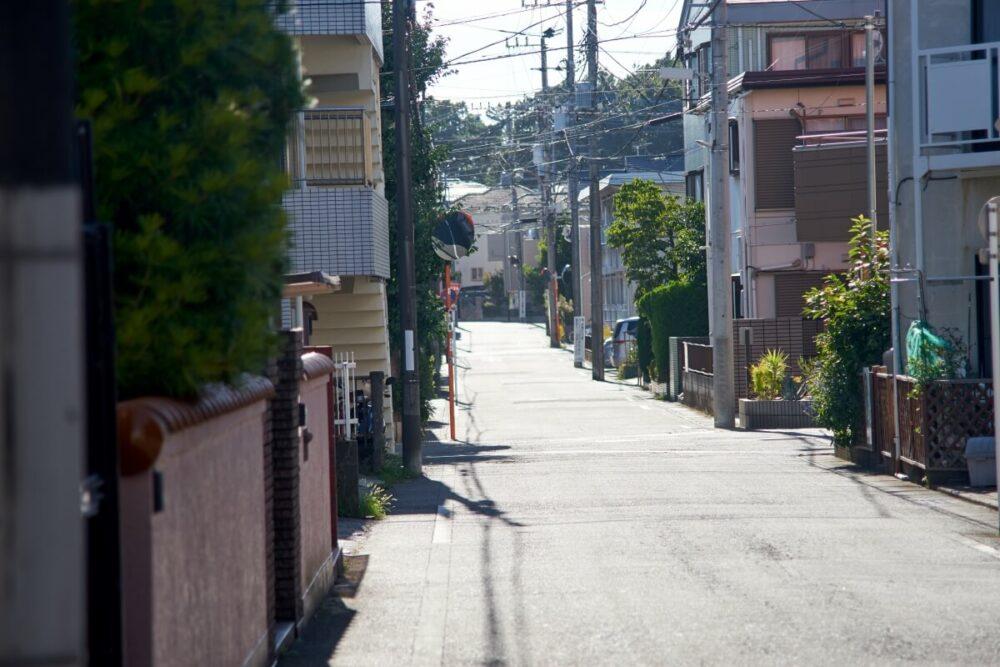 住宅街の町並み