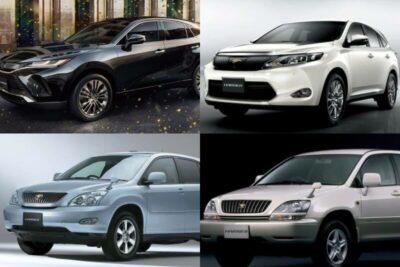 トヨタ ハリアーの歴代車種を比較|10系・30系・60系から現行新型80系まで