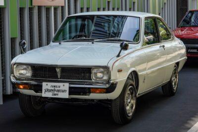 【マツダ2代目ファミリア・プレスト・ロータリー・クーペ】試作車ネームRX85の軽量スポーツ
