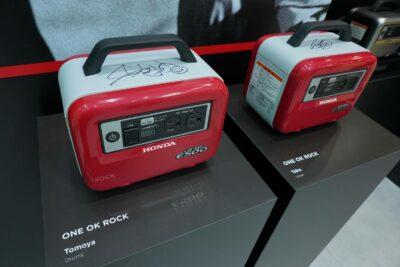 ワンオクのサイン入りホンダ蓄電池が展示中!東京モーターショー2019