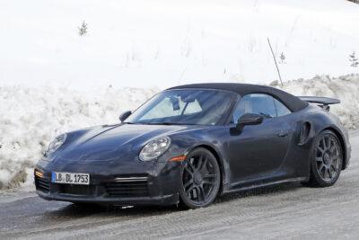 ポルシェ 新型911ターボ カブリオレをスクープ!2020年3月デビューか