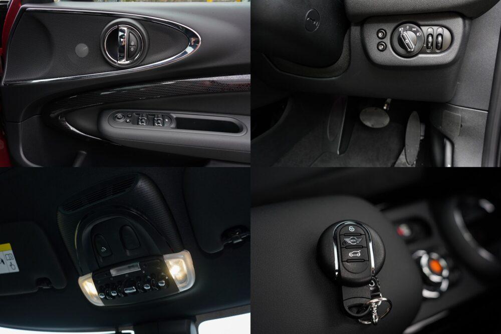 新型ミニ・クラブマン クーパーS ALL4のドアパネル、ルームランプ、キー、ライトスイッチ