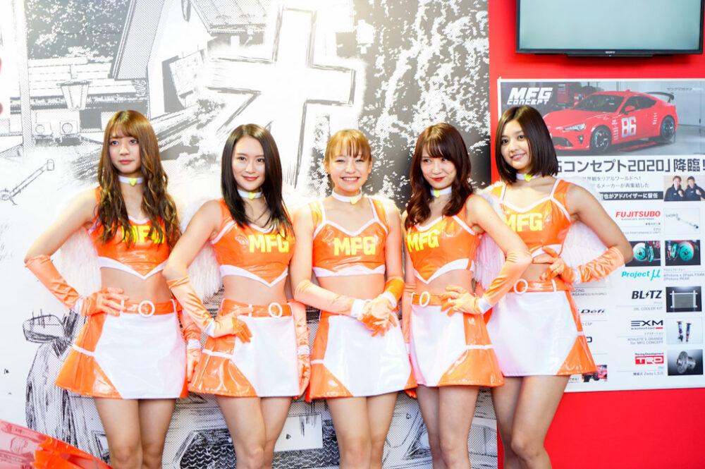 東京オートサロン2020イメージガールのMFGエンジェルス