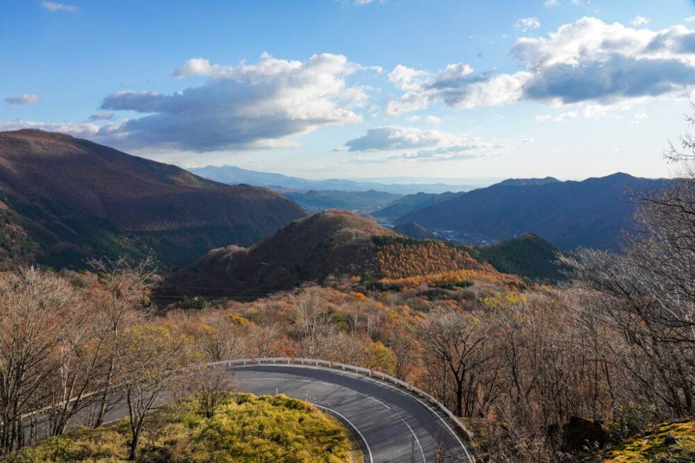 第二いろは坂にある「黒髪平展望台」からの景色