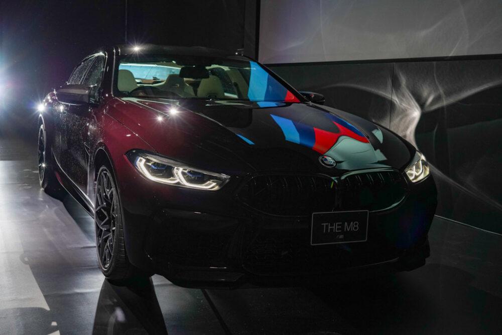 新型BMW M8 グラン クーペのフロントマスク