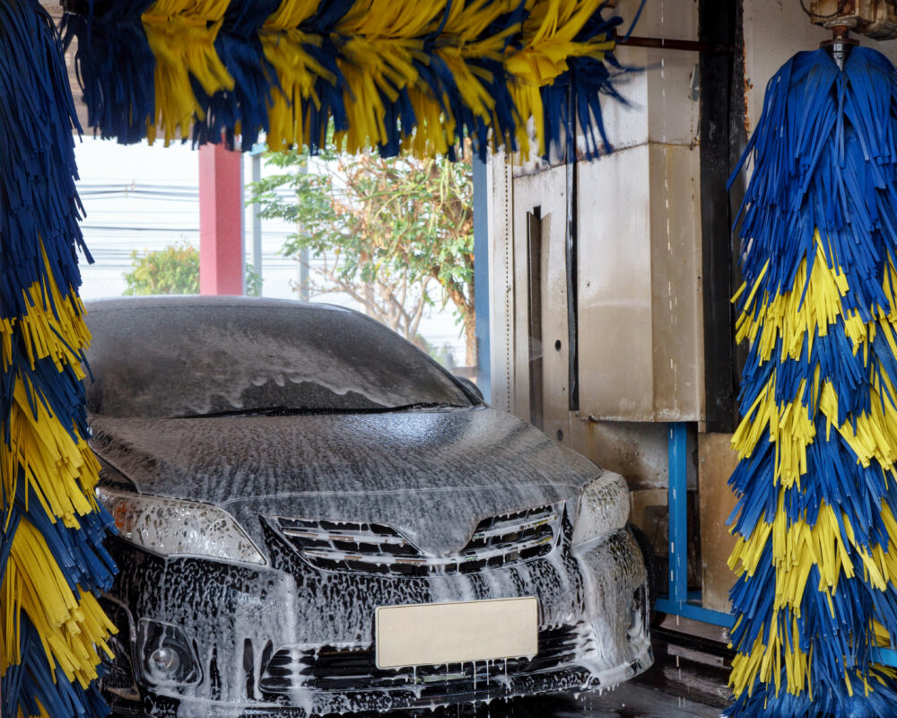 洗車機で洗車