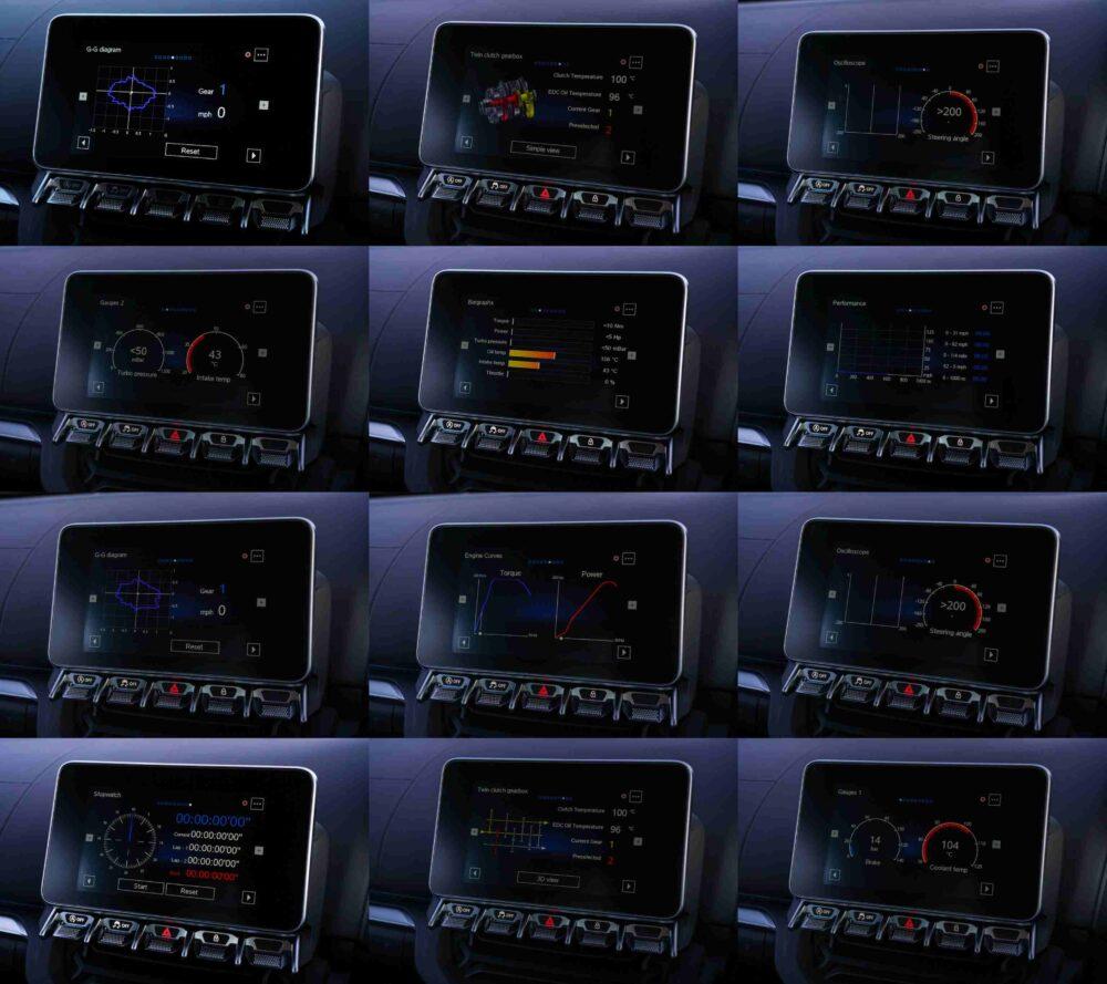アルピーヌA110のインフォメーションディスプレイ。