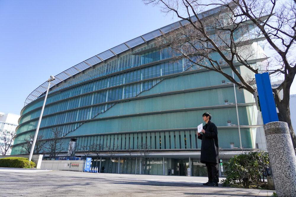 ミニ・ジョン・クーパー・ワークス・GPのお披露目会会場、日本科学未来館。