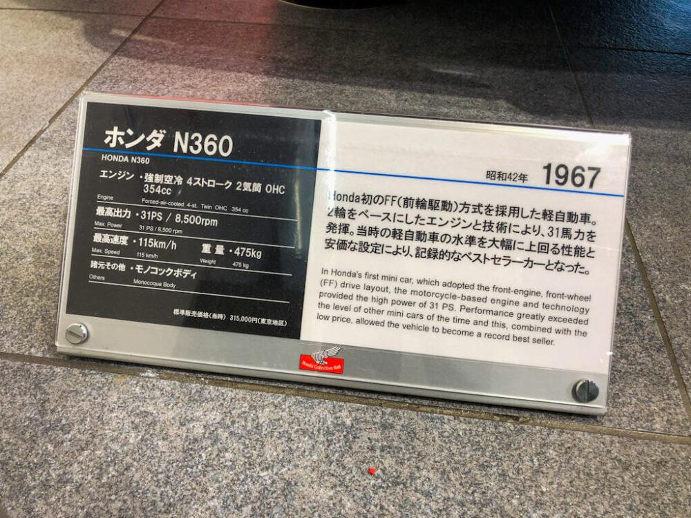 ホンダ N360 スペックシート