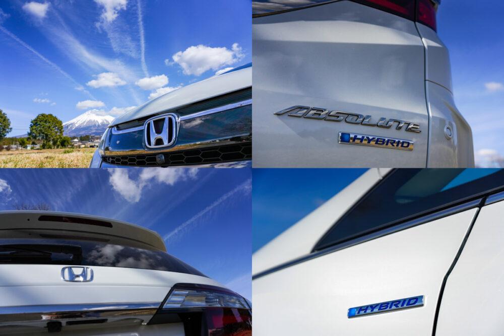 ホンダ オデッセイ ハイブリッド アブソリュート EX HondaSENSING のバッヂ
