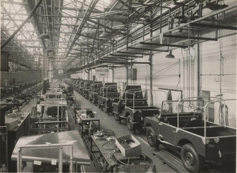ランドローバー・ソリハル工場 1950年