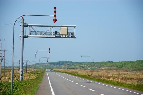 北海道の道路に設置されているオービス