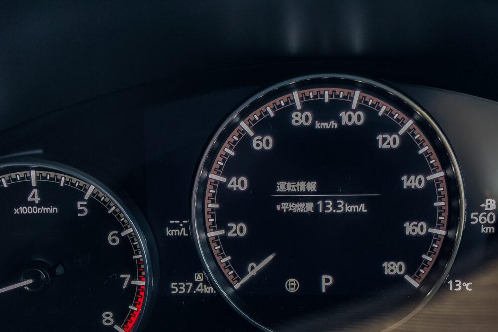 マツダ3ファストバック スカイアクティブXの試乗走行距離と平均燃費