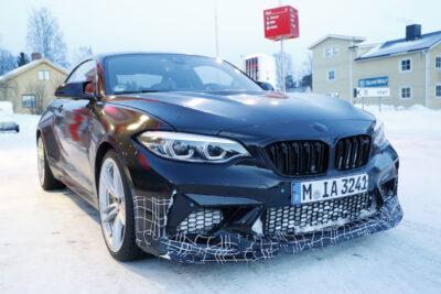 BMW新型M2CS/CSLの市販型プロトタイプを接写!今秋デビューの可能性も