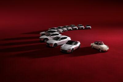 マツダ100周年記念特別仕様車を全9車種に設定「R360クーペ」のボディカラーをモチーフ