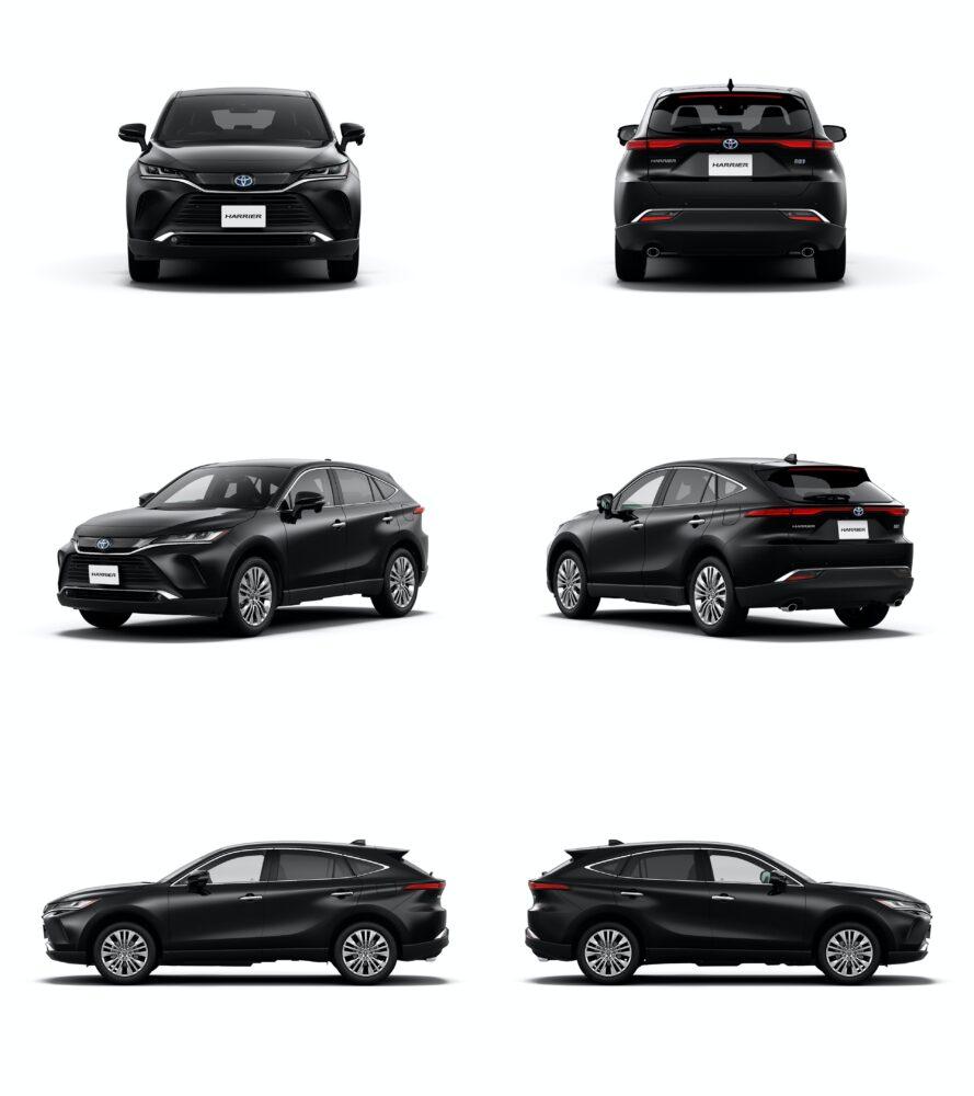 トヨタ新型ハリアー・プロトタイプ 全方向6枚をひとまとめ
