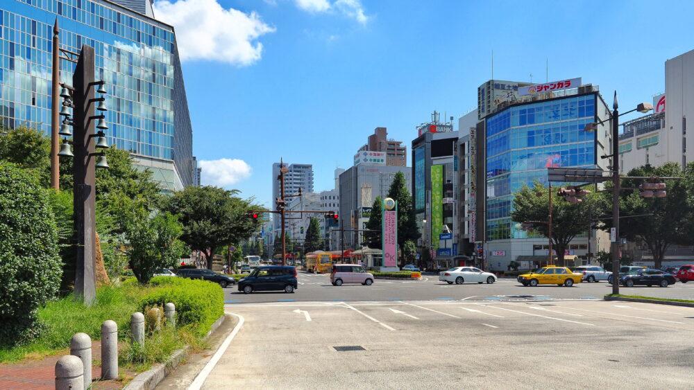 岡山駅前風景