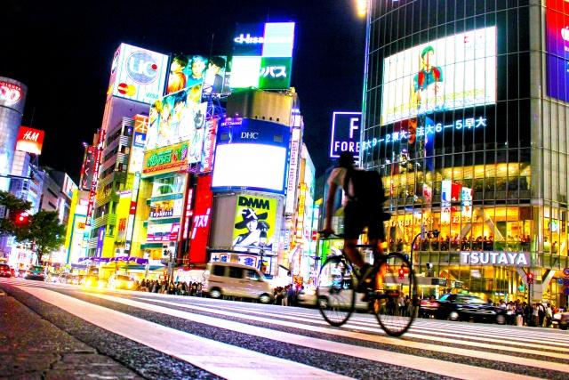 都会と自転車