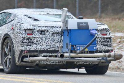 新型シボレー コルベット C8 スティングレーに最強PHEV・AWDが追加か!テスト車両をスクープ