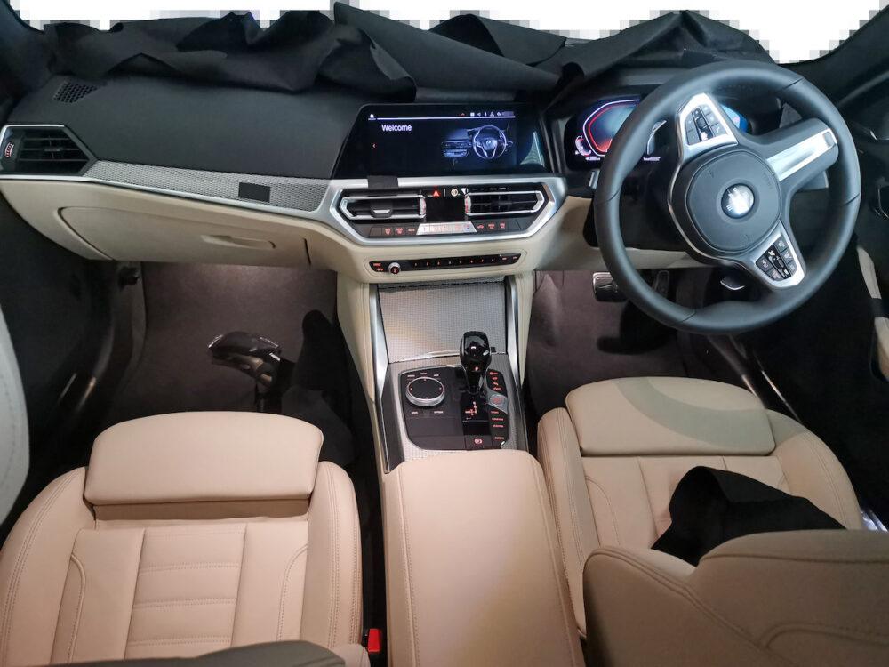 次期新型BMW 4シリーズ プロトタイプ インテリア インパネ