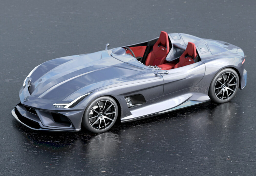 メルセデス・ベンツ SLRマクラーレン復活新型予想CG 俯瞰