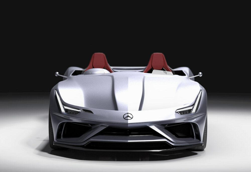 メルセデス・ベンツ SLRマクラーレン復活新型予想CG フロントマスク