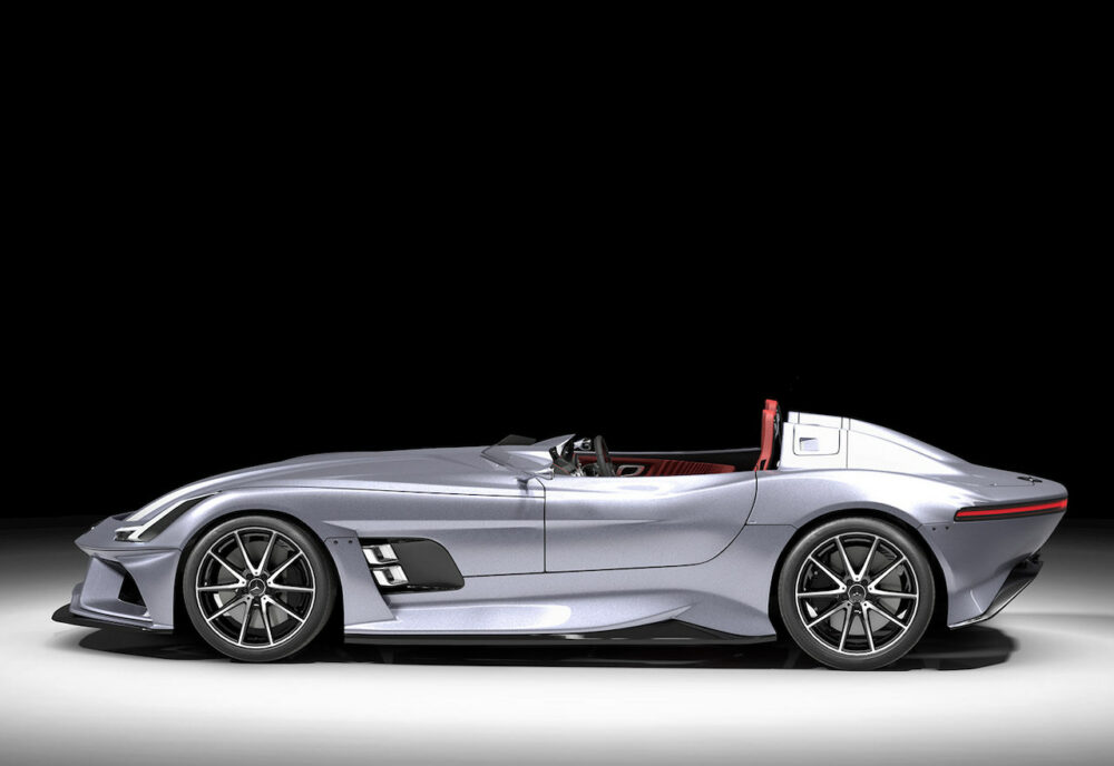 メルセデス・ベンツ SLRマクラーレン復活新型予想CG ボディサイド
