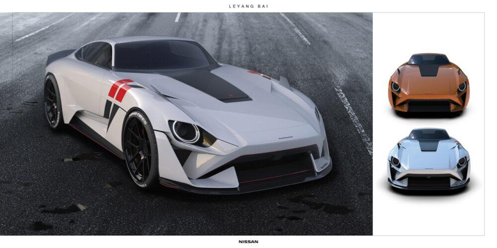 次期新型フェアレディZ 予想CG フロント 3色のボディカラー