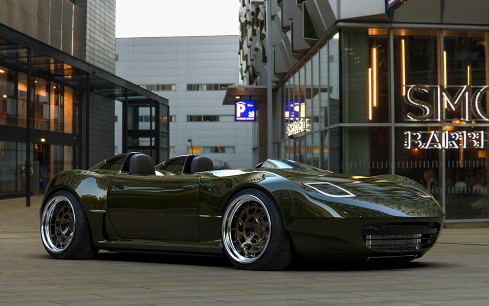 次期新型マツダ・ロードスター「NE型」スピードスター 予想CG フロント・サイド