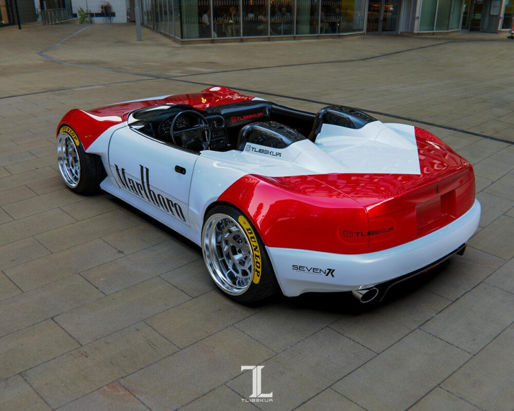 次期新型マツダ・ロードスター「NE型」スピードスター 予想CG リア 斜め上から