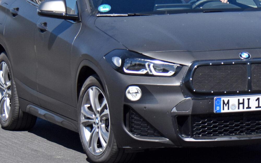 改良新型BMW X2 テスト車両 スパイショット フロントマスク拡大