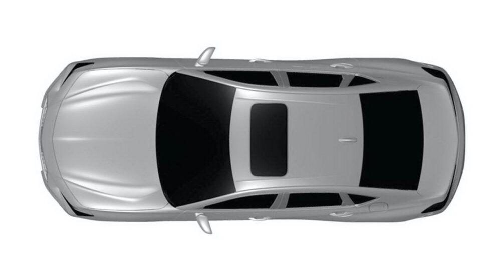 次期新型アキュラ TLX リークされた特許画像 車両真上から俯瞰