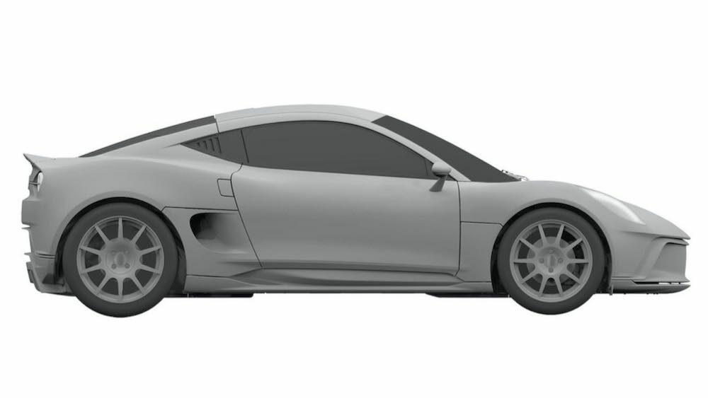 新型ヤマハ 2ドアクーペ EVの流出した特許画像 ボディサイド