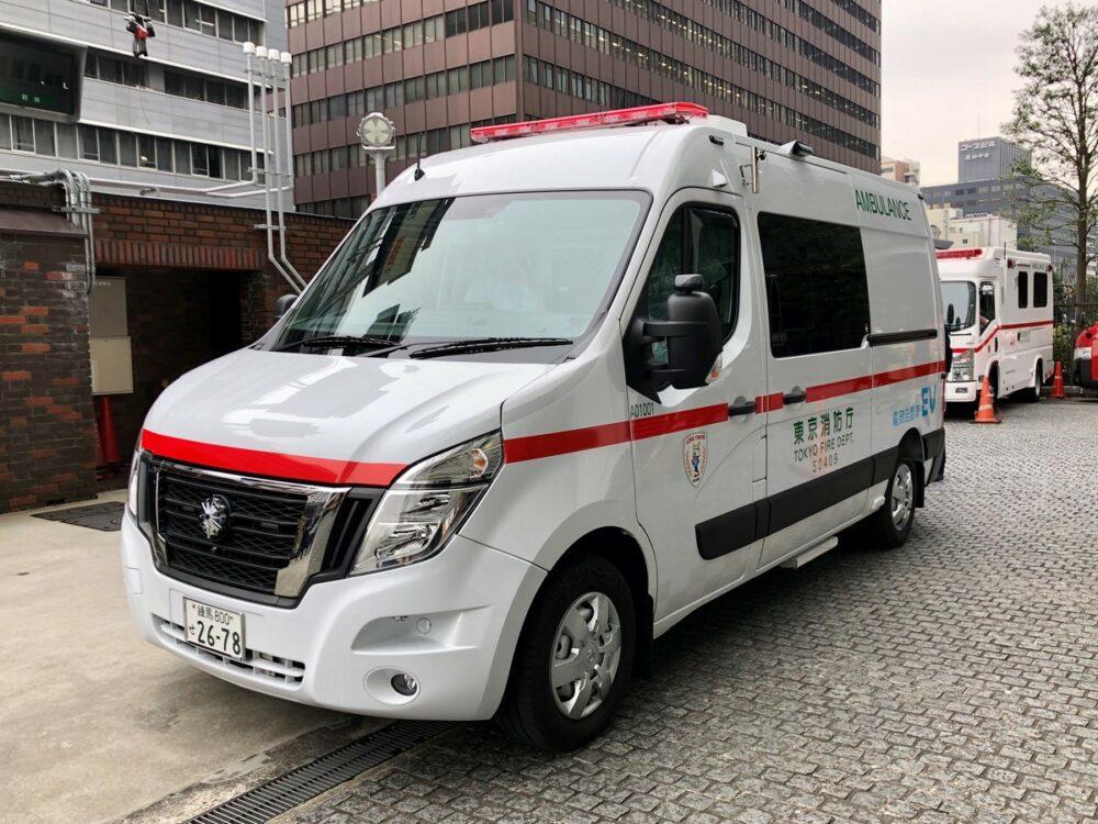 日産 ゼロエミッション救急車