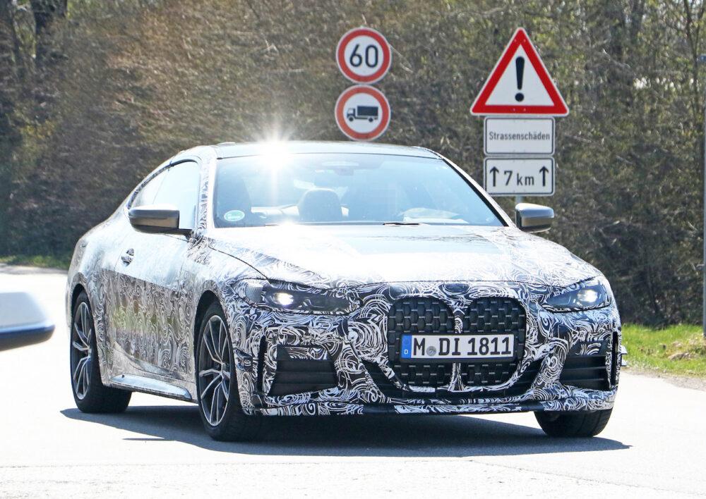 次期新型BMW 4シリーズ Mパフォーマンス スパイショット フロント