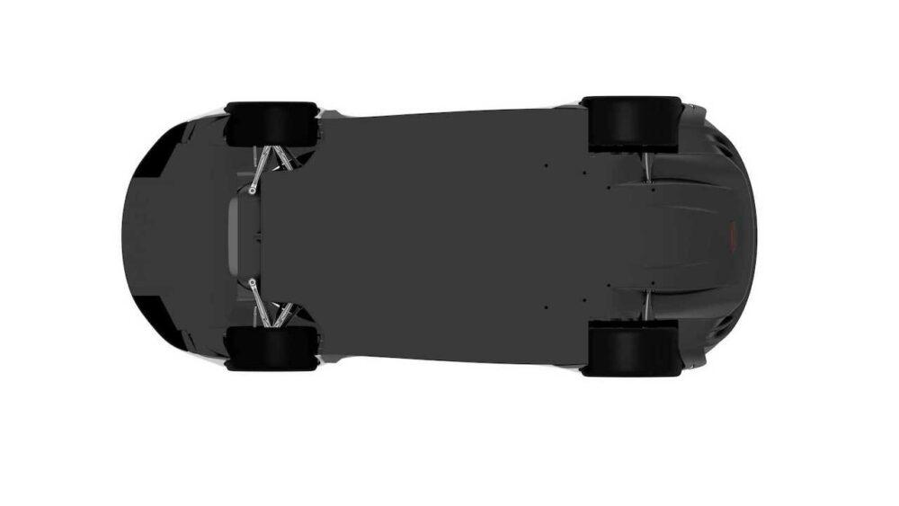 ポルシェ918スパイダーの後継と思われる流出した特許画像 車体底面