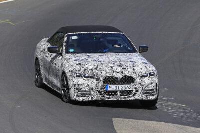 次期新型BMW 4シリーズ カブリオレ、ニュルで高速テスト走行をスクープ!