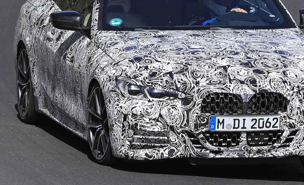 次期新型BMW 4シリーズ・カブリオレのスパイショット フロントマスク拡大