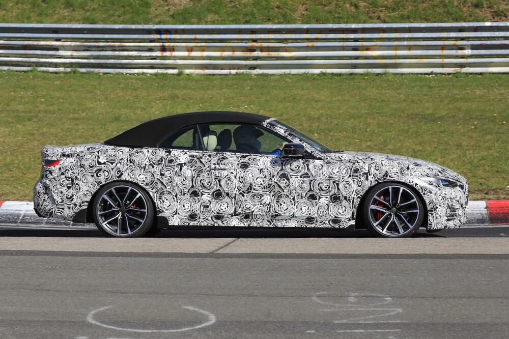 次期新型BMW 4シリーズ・カブリオレのスパイショット ボディサイド