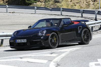 ポルシェ 911ターボ カブリオレをスクープ!ターボSの下位互換でも600馬力
