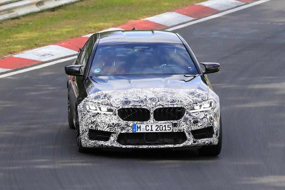 改良新型BMW M5 プロトタイプ スパイショット フロントマスク