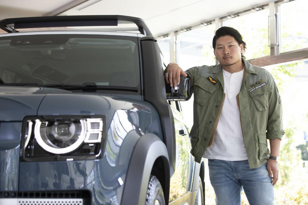 稲垣啓太選手と新型ディフェンダー