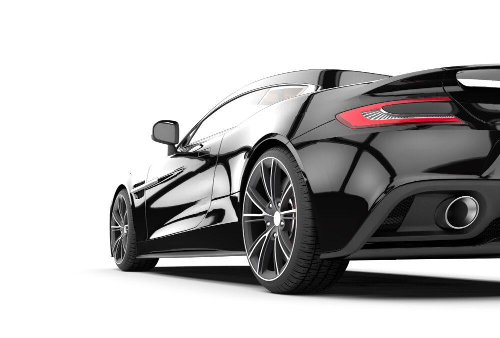 黒のスポーツカー