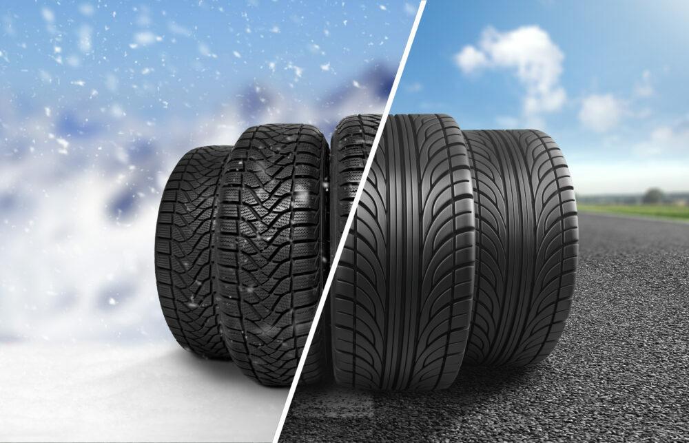 冬用タイヤと夏用タイヤ