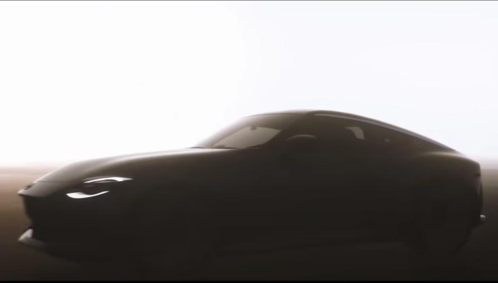 次期新型日産フェアレディZ。 (米国日産が公開したYouTubeのスクリーンショット)