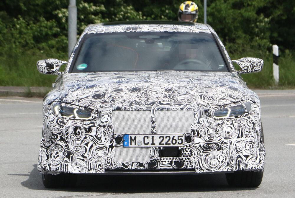 次期新型BMW M3 CS プロトタイプ スパイショット フロント