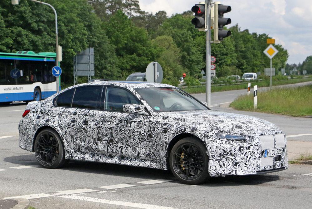 次期新型BMW M3 CS プロトタイプ スパイショット ボディサイド