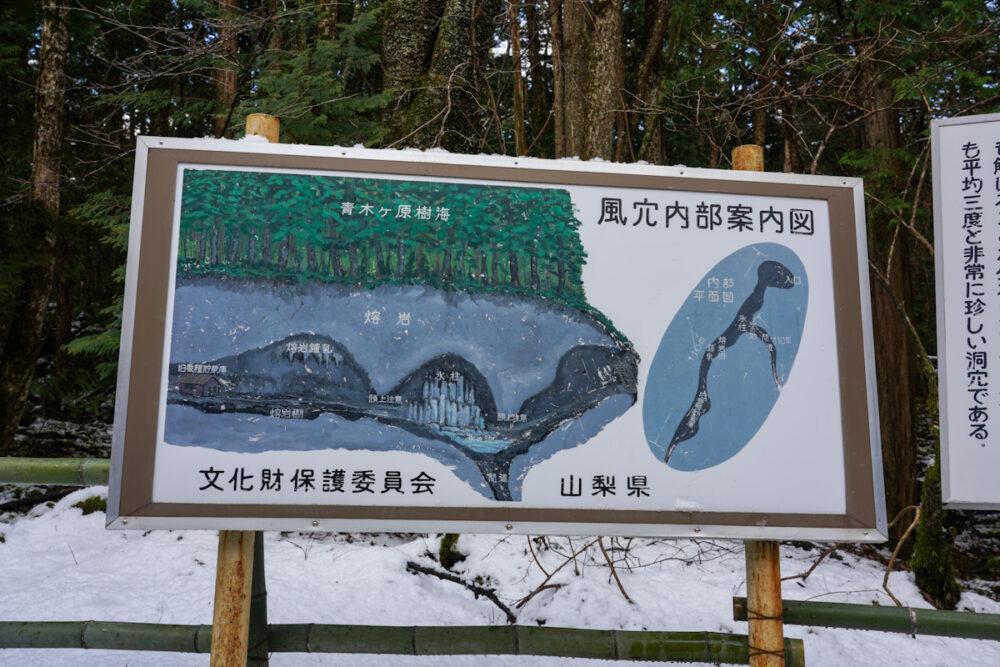 富岳風穴内部案内図
