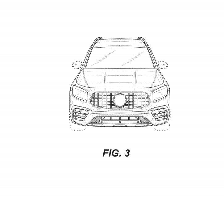 新型メルセデス・ベンツ GLB AMG45 流出した特許画像 フロント
